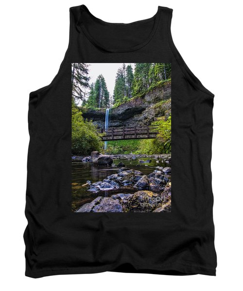 South Silver Falls With Bridge Tank Top by Darcy Michaelchuk