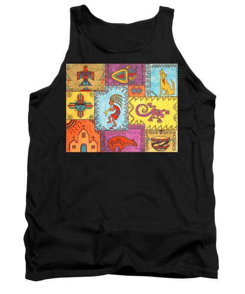 Tank Top featuring the painting Southwest Sampler by Susie WEBER