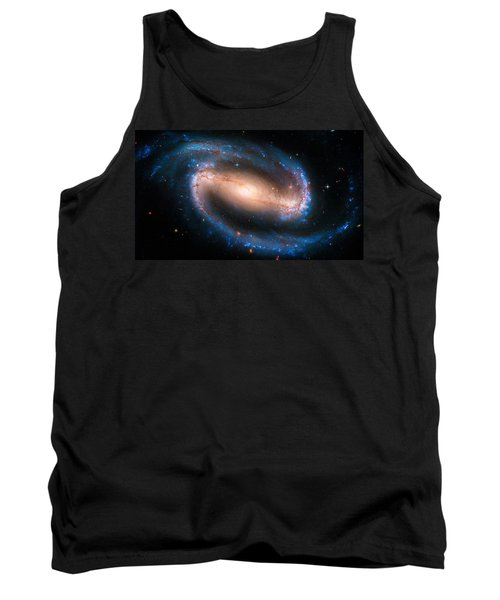 Space Image Barred Spiral Galaxy Ngc 1300 Tank Top by Matthias Hauser