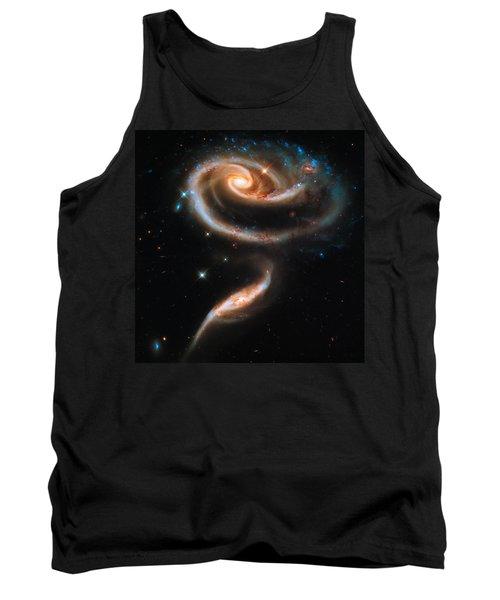 Space Image Galaxy Rose Tank Top