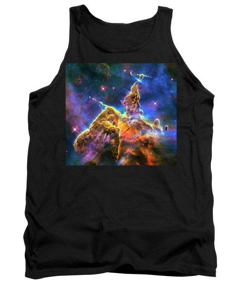 Space Image Mystic Mountain Carina Nebula Tank Top by Matthias Hauser