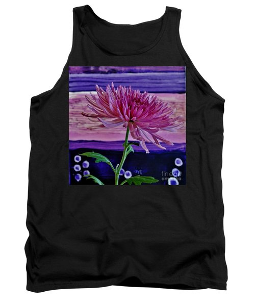 Tank Top featuring the photograph Spider Mum With Abstract by Marsha Heiken