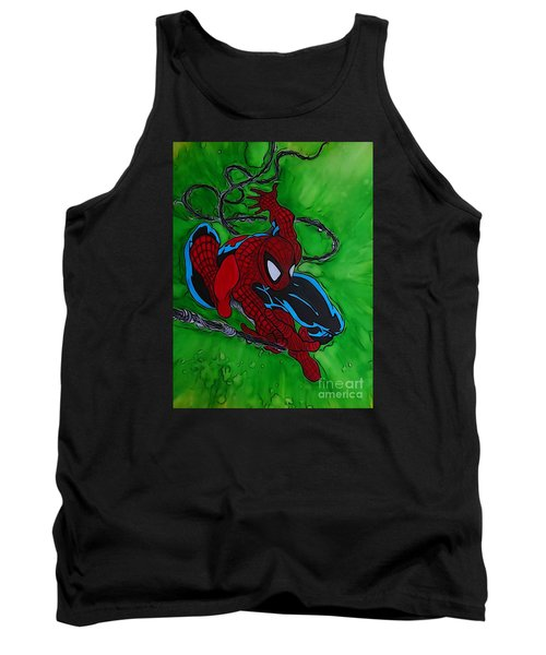 Spiderman 301 Illustration Edition Tank Top by Justin Moore
