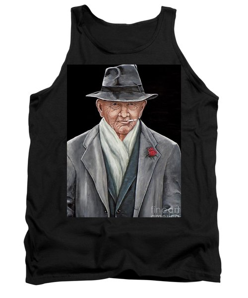 Tank Top featuring the painting Spiffy Old Man by Judy Kirouac