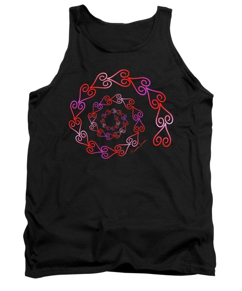 Spiral Of Hearts Tank Top