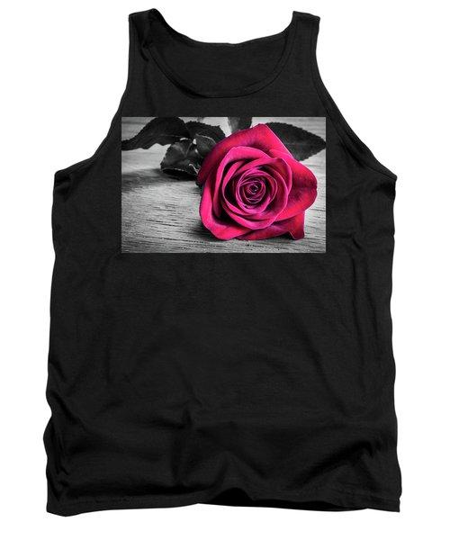 Splash Of Red Rose Tank Top