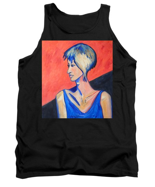 Tank Top featuring the painting Split Personality by Esther Newman-Cohen