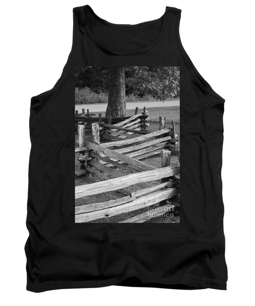 Tank Top featuring the photograph Split Rail Fence by Eric Liller
