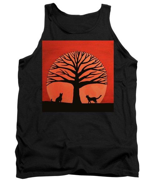 Spooky Cat Tree Tank Top