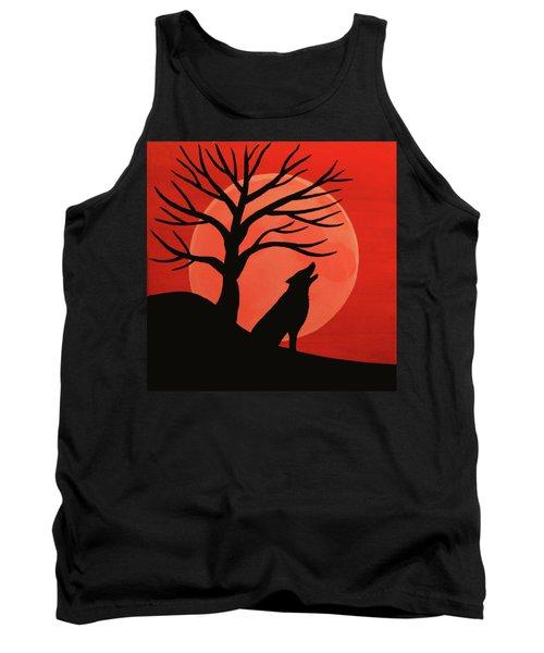 Spooky Wolf Tree Tank Top