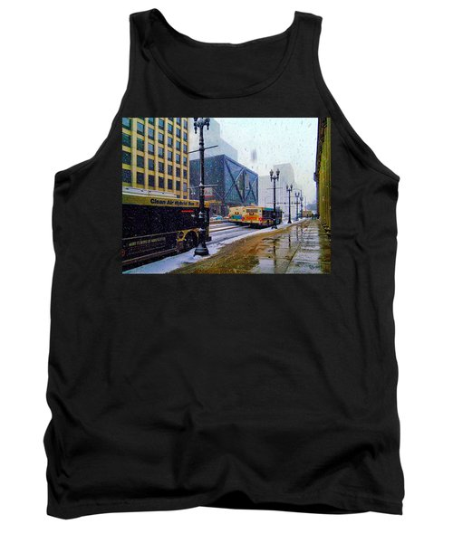 Spring Day In Chicago Tank Top by Dave Luebbert