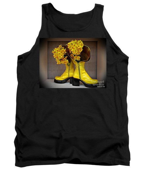 Spring In Yellow Boots Tank Top by AmaS Art