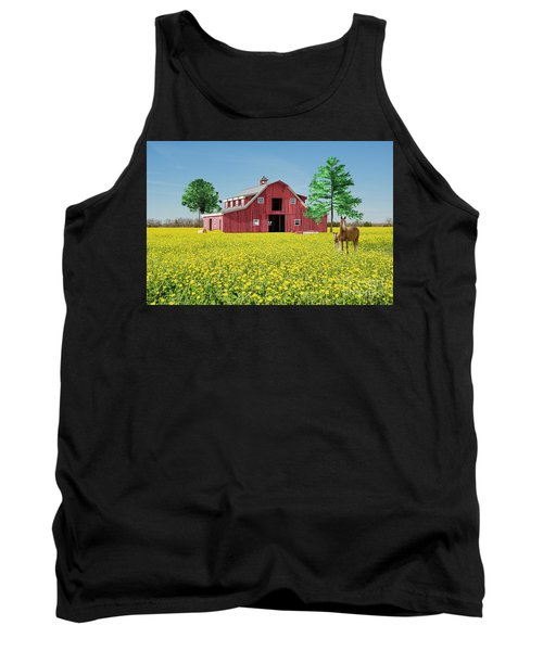Tank Top featuring the photograph Spring On The Farm by Bonnie Barry