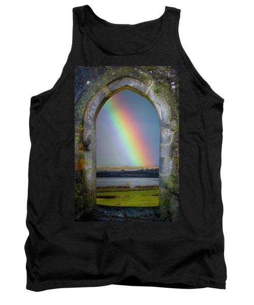 Tank Top featuring the photograph Spring Rainbow Over Ireland's Shannon Estuary by James Truett