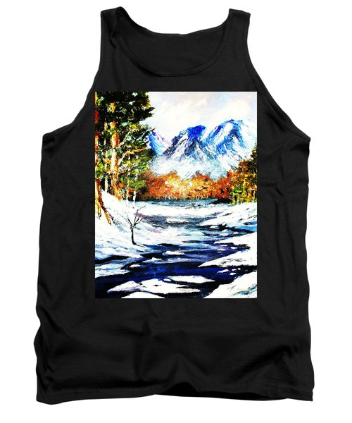 Tank Top featuring the painting Spring Thaw by Al Brown