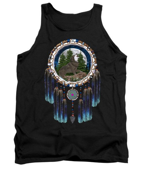 Sprit Of The Wolf Tank Top by Walter Colvin
