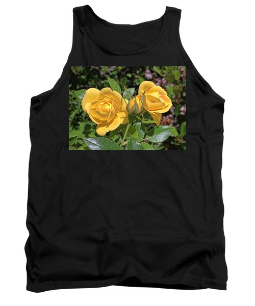 Tank Top featuring the photograph St. Andrews Yellow Rose Family by Daniel Hebard