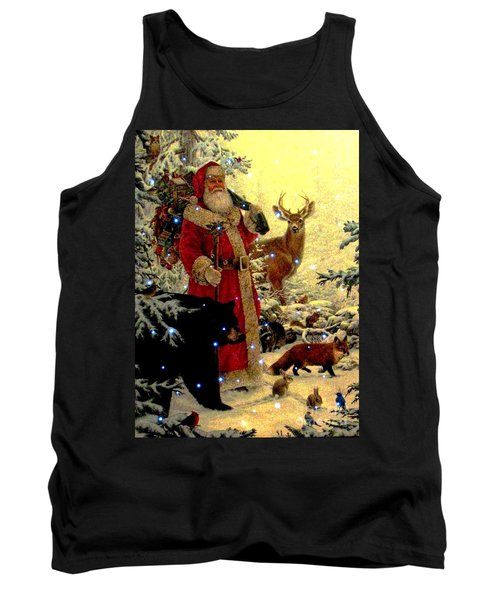Tank Top featuring the photograph St Nick  And Friends by Judyann Matthews