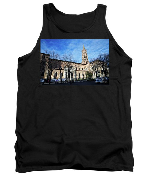 Tank Top featuring the photograph St Sernin Basilica by Cendrine Marrouat