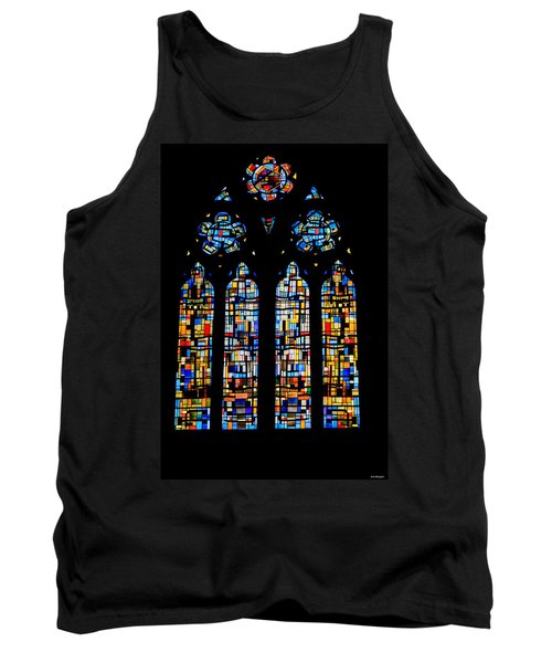Tank Top featuring the photograph Stained Glass France by Tom Prendergast