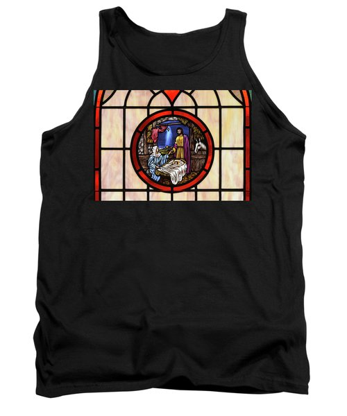 Stained Glass Nativity Window Tank Top