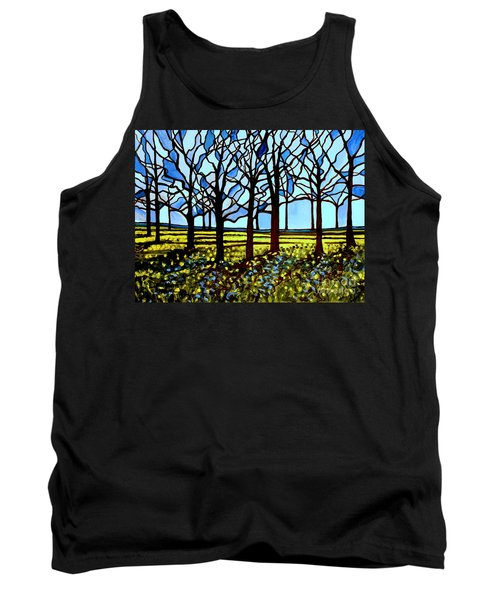 Stained Glass Trees Tank Top