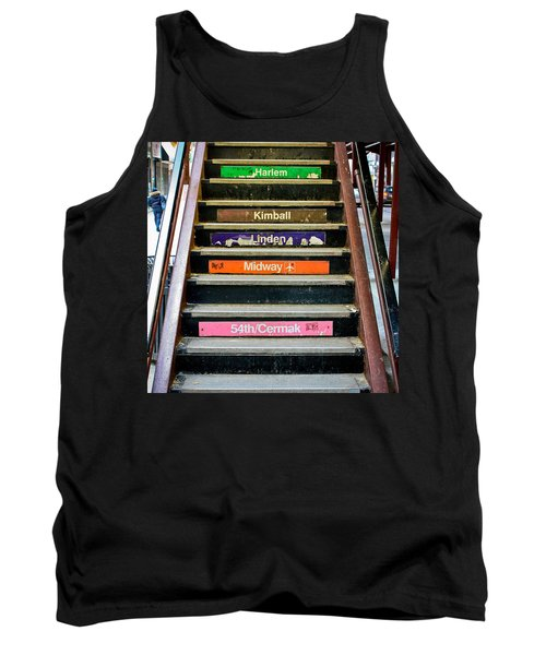 Stairs To The Chicago L Tank Top