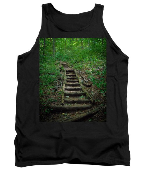 Stairway At Unicoi Gap On The At Tank Top