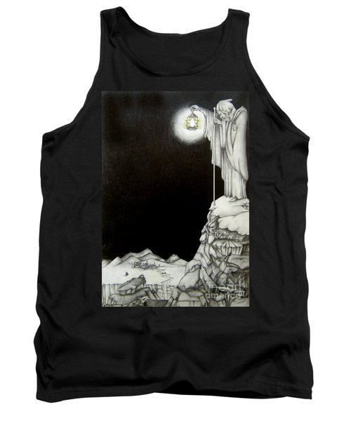 Tank Top featuring the drawing Stairway To Heaven by Patrice Torrillo