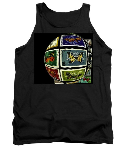 Stamp Collecting Around The World Tank Top by Carol F Austin