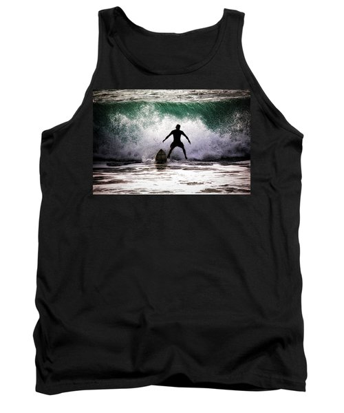 Tank Top featuring the photograph Standby Surfer by Jim Albritton