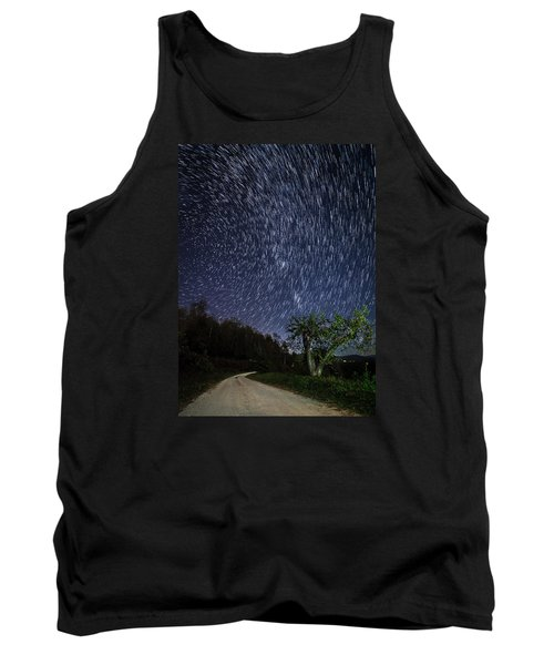 Tank Top featuring the photograph Star Trail Over The Blue Ridge by Serge Skiba