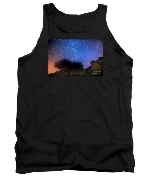Star Trails Above Shell Beach Tank Top