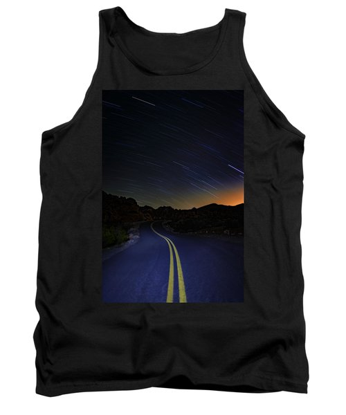 Star Trails Over Valley Of Fire Tank Top