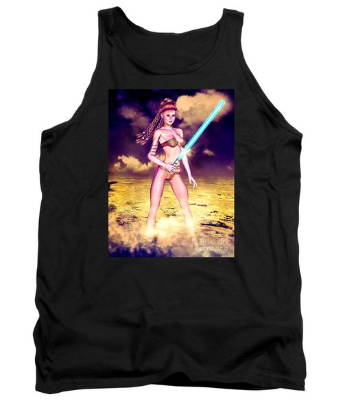 Star Wars Inspired Fantasy Pin-up Girl Tank Top
