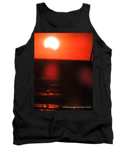 Staring Into A Star Eclipsed Tank Top