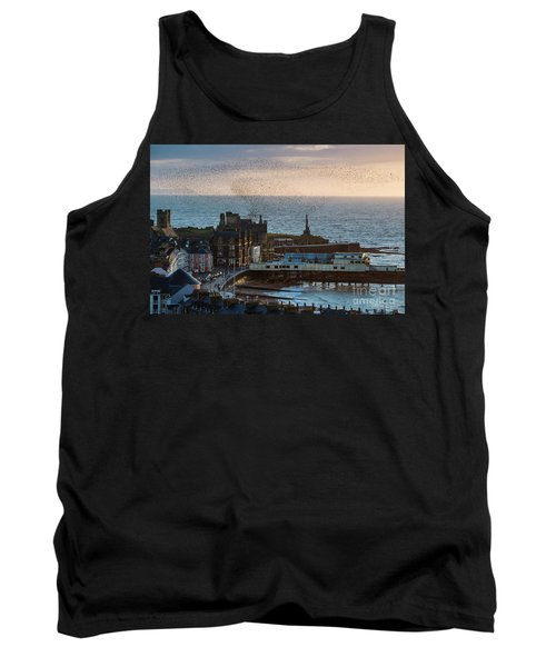 Starlings Over Aberystwyth On The West Wales Coast Tank Top