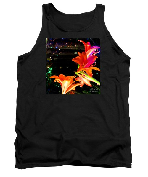 Stars And Flowers Tank Top by Anna Yurasovsky