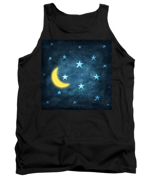 Stars And Moon Drawing With Chalk Tank Top