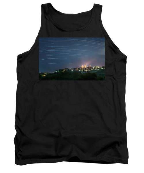 Startrails Over San Gimignano Tank Top