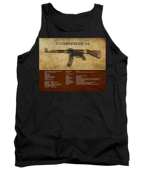 Tank Top featuring the digital art Stg 44 Sturmgewehr 44 by John Wills