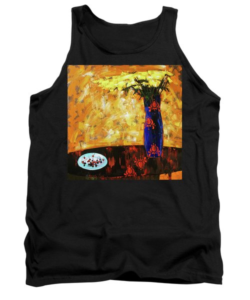 Tank Top featuring the painting Still Life. Cherries For The Queen by Anastasija Kraineva