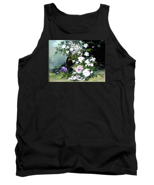 Still Life W/flowers Tank Top