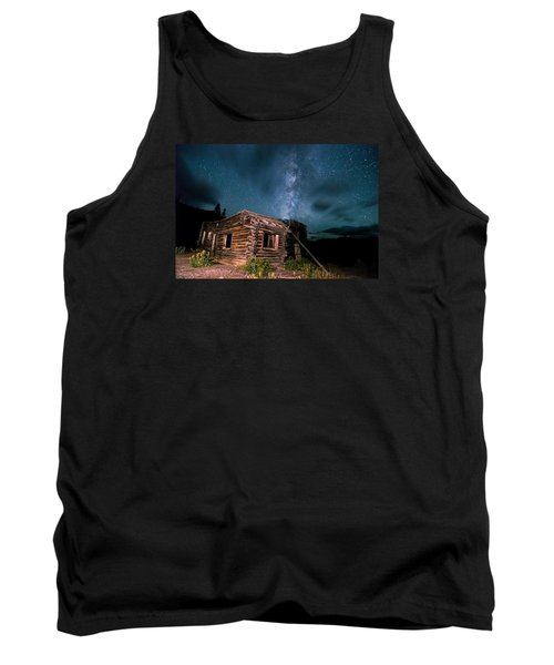 Still Night At Old Cabin Tank Top by Michael J Bauer