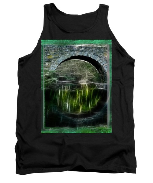 Tank Top featuring the photograph Stone Arch Bridge - Ny by EricaMaxine  Price