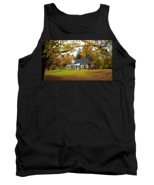 Stone Cottage In The Fall Tank Top
