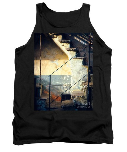 Tank Top featuring the photograph Stone Steps Outside An Old House by Silvia Ganora