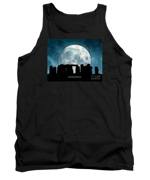 Tank Top featuring the digital art Stonehenge by Phil Perkins