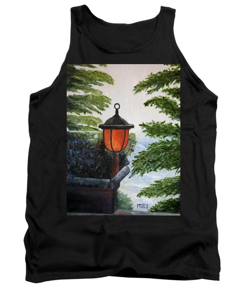 Tank Top featuring the painting Storm On Lake Of The Woods by Marilyn  McNish