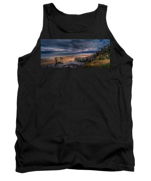 Storm Watch Over Malibu - Panarama  Tank Top